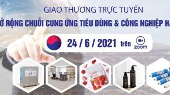 Giao thương trực tuyến 'Mở rộng chuỗi cung ứng tiêu dùng & Công nghiệp Hàn Quốc'