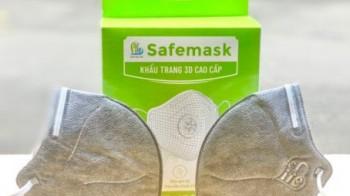 Khẩu trang Safemask 3D cao cấp N96+ Carbon không van - SafeLife Vietnam