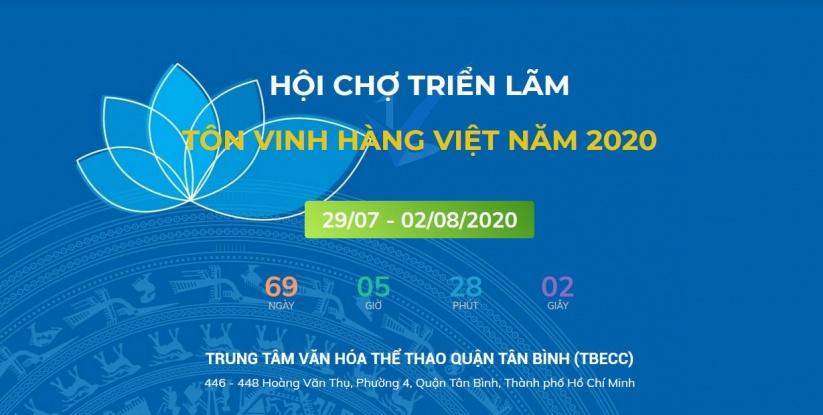 Hội chợ Triển lãm Tôn vinh hàng Việt năm 2020
